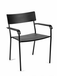 Chair With Armrests August | Black