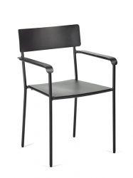 Outdoor-Stuhl mit Armlehne August | Schwarz