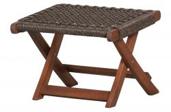Outdoor Foldable Footstool Lois | Dark Brown