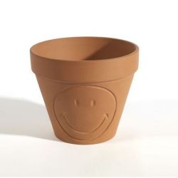 Flower Pot Medium Smiley | Terracotta