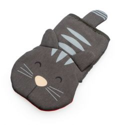 Backofenhandschuh Meow | Grau