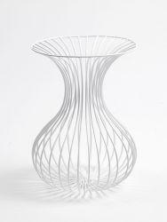 Rho Eisendraht-Vase Weiß