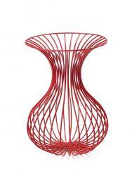 Rho Eisendraht-Vase Rot