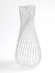 Leo Iron Wire Vase White