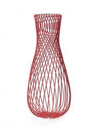 Löwe-Eisendraht-Vase Rot