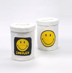 Box Smiley | Set of 2 | Yellow & White