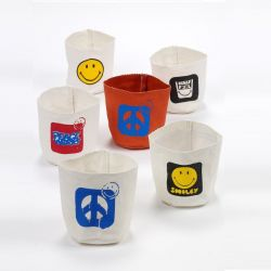 Canvas Zak Mini Smiley | Set van 6