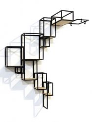 Shelving System Jointed Wall | Black