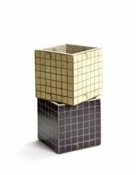 Set of 2 Plant Pot Marie Mosaic 13 cm | Black & White