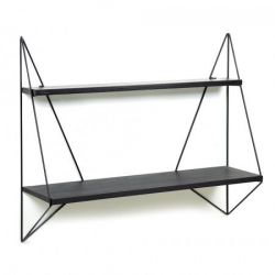 Butterfly Shelf | Black Wood