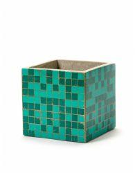 Plant Pot Marie Mosaic 15 cm | Green