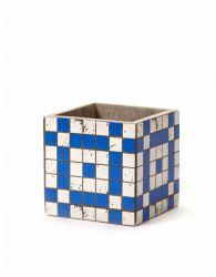 Plant Pot Marie Mosaic 13 cm | Blue