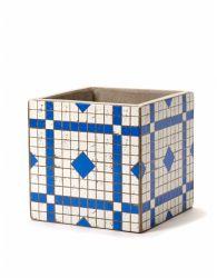 Plant Pot Marie Mosaic 17 cm | Blue