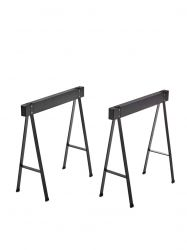 Set of 2 Table Trestles Oak | Black