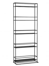 Rack High 80x37x200 cm | Black
