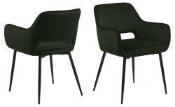 Set de 2 Chaises Banja | Vert Olive