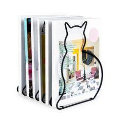 Zeitschriftenregal Katze | Schwarz