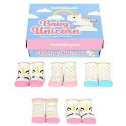 Baby Socks Unicorn 5 Pair