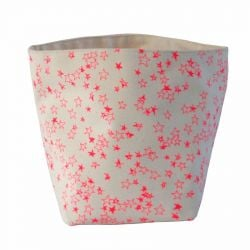 Storage Bag Pink Stars | Medium