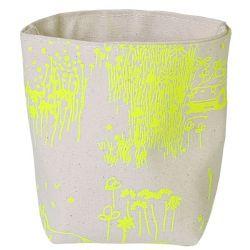 Storage Bag Yellow Toile de Jouy | Small