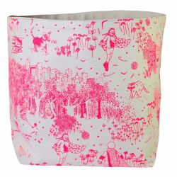 Storage Bag Pink Toile de Jouy | Large