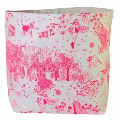 Storage Bag Pink Toile de Jouy | Large