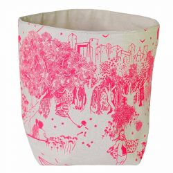 Storage Bag Pink Toile de Jouy | Medium