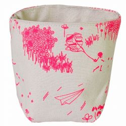Storage Bag Pink Toile de Jouy | Small