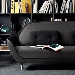 Sofa Favn | Black Color In Three Fabrics