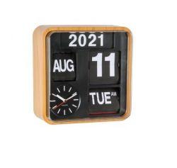 Horloge Murale Mini Flip | Bambou