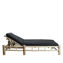 Bamboo Double Sunbed with Mattress | Phantom