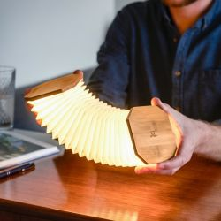 Smart Accordion Lamp | Bamboo Wood