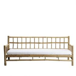 Bamboo Couch with Cushion | White