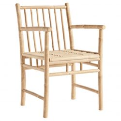 Bamboo Dining Chair with Armrest