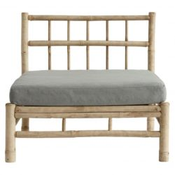 Bamboo Lounge Module with Cushion | Grey