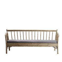 Bambus Lounge Sofa mit Matratze | Grau