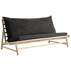 Bamboo Lounge Couch with Cushions | Phantom