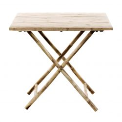 Bamboo Folding Table 80 x 80