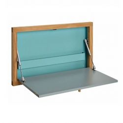 Wall Desk Brenta | Oak/Blue