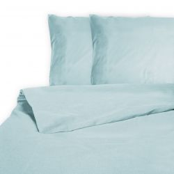 Duvet Cover Les Essentiels Percale Cotton | Light Blue