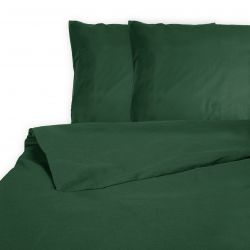 Duvet Cover Les Essentiels Percale Cotton | Green