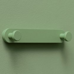 Coat Hanger Base Hooks | Moss Green | Set of 3