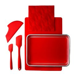 Complete Baking Set | 6 Pieces | Red