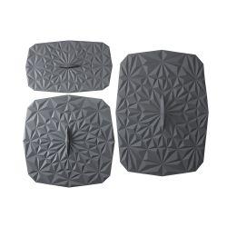 Rechteckiger Deckelsatz | 3 Stücke | Grau