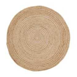 Round Jute Rug Pacific | Brown