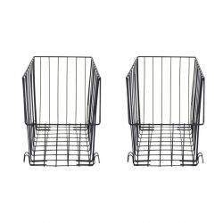Metal Rectangular Baskets | Set of 2