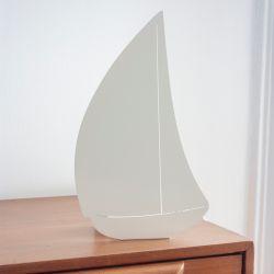 Decoupage-Lampe Bateau | Ivory Weiß