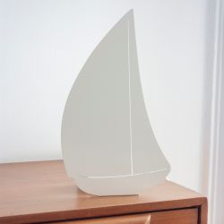 Decoupage Lamp Bateau | Ivory White