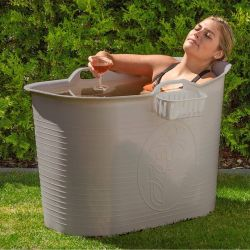 Compact Bathtub Bath Bucket | Grey