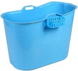 Compact Bathtub Bath Bucket | Blue